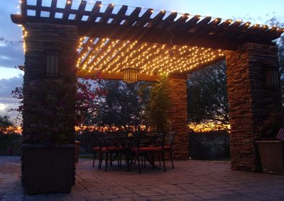 Holiday Patio Lighting
