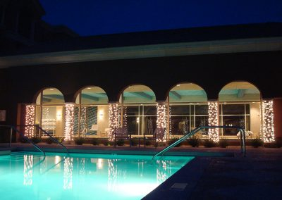Hotel Holiday Pool Lighting