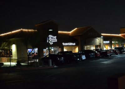Strip Mall Perimeter Holiday Lighting