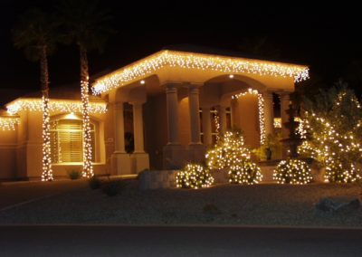 Holiday Lit and Decorated Home