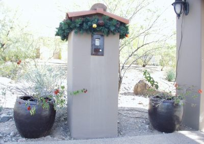 HOA Community Decorated Call Box Garland
