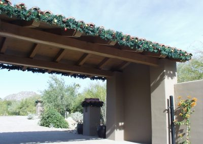 HOA Community Guardhouse Decorated Garland