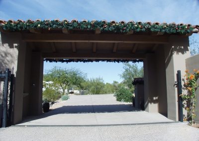 Decorated Guardhouse Garland