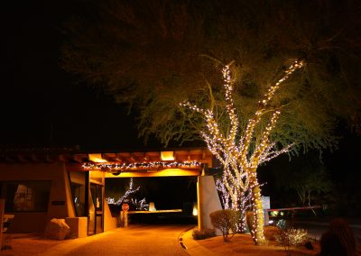 HOA Community Holiday Lit Guardhouse
