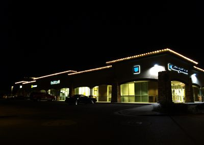 Business Holiday Perimeter Lighting