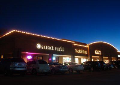 Mall Holiday Perimeter Lighting