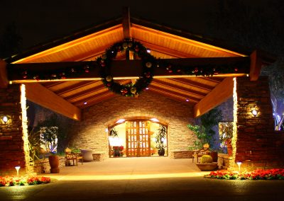 Decorated HOA Community Front Entrance