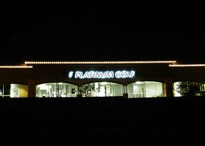 Local Business Holiday Perimeter Lighting