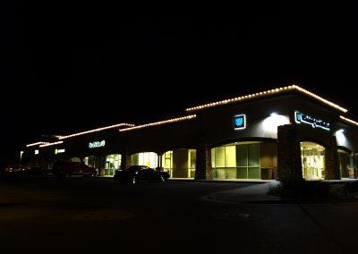 Business Holiday Perimeter Lighting