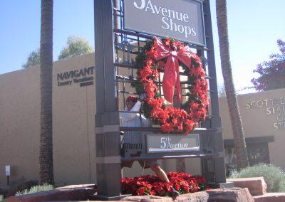 Scottsdale Shopping Center Holiday Wreath Decoration