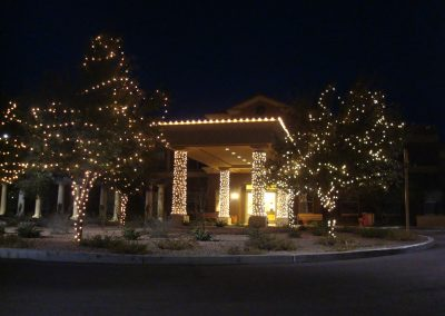 Hotel Front Entrance Holiday Lighting